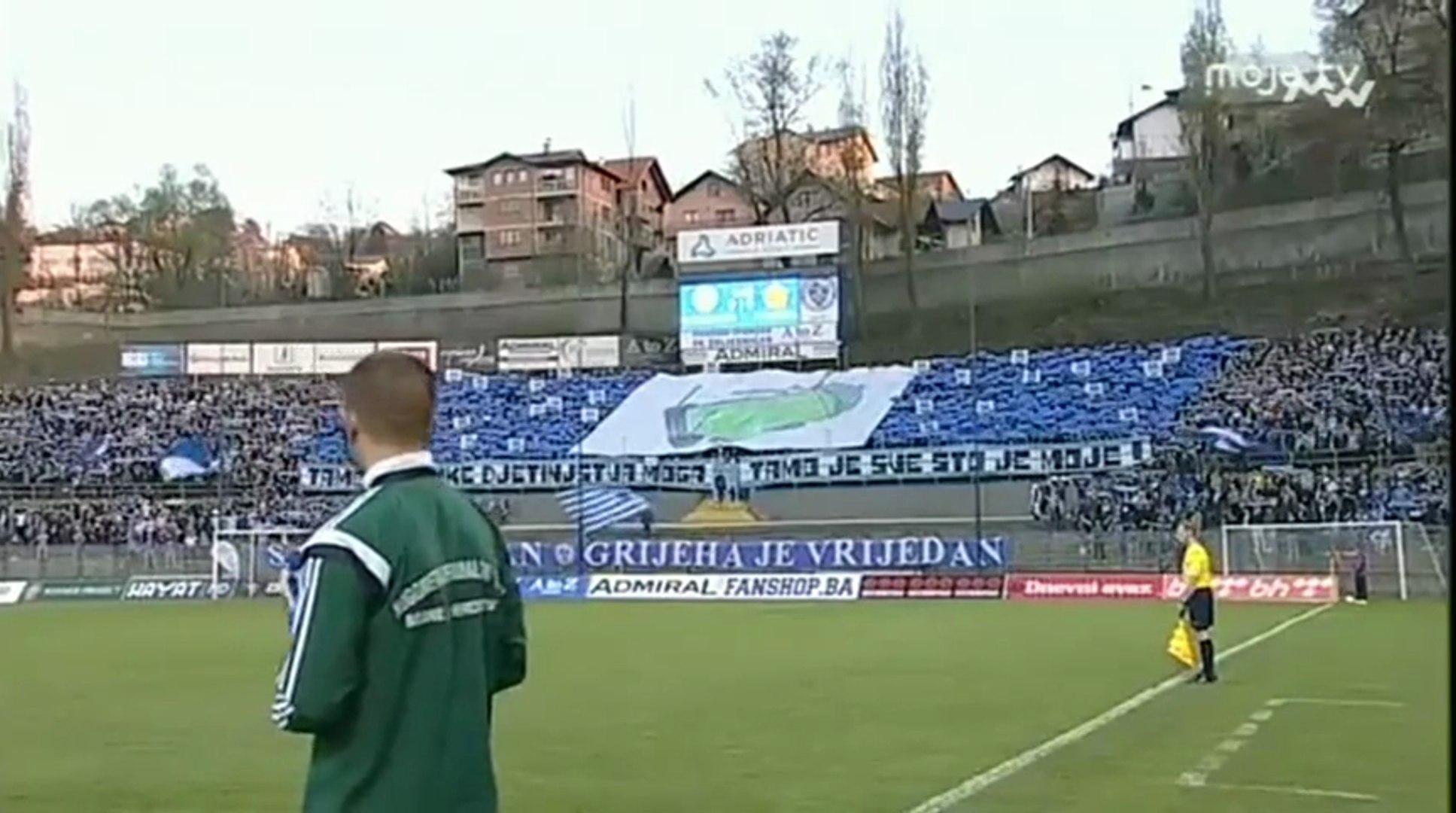 FK Željezničar - FK Sloboda / Grbavica otpjevana, sjajna koreografija