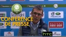 Conférence de presse ESTAC Troyes - US Orléans (4-2) : Jean-Louis GARCIA (ESTAC) - Didier OLLE-NICOLLE (USO) - 2016/2017