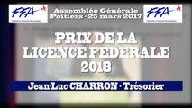 06 - FFA - AG2017 Poitiers - PRIX DE LA LICENCE FEDERALE 2018