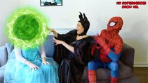 Elsa and Spiderman America Got Talent W_ Peppa Pig and Maleficent-exwWiygumZQ