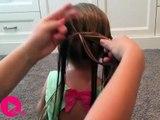 Cette maman fait de toutes petites lulus dans les cheveux de sa fille