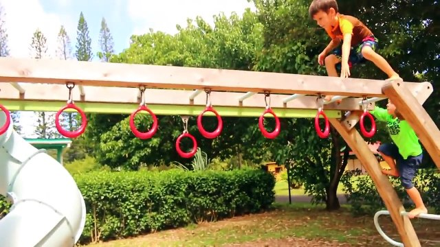 GIANT Playground Treasure Hunt Surprise Toys Play At Park Surprise Hurt Fall Crash