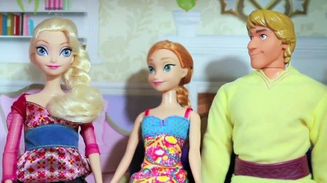 PRANK FROZEN ELSA Babysitting Play Doh Cake Barbie Disney Frozen Anna Kristoff AllToyCollector