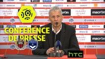 Conférence de presse OGC Nice - Girondins de Bordeaux (2-1) : Lucien FAVRE (OGCN) - Jocelyn GOURVENNEC (GdB) / 2016-17