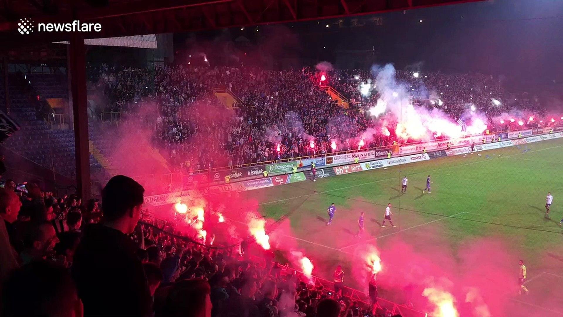 Unbelievable football atmosphere in Sarajevo