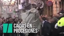 Caídas en procesiones de Semana Santa