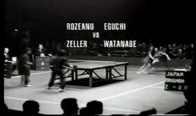 1956 (WTTC) finals angi zeller vs eguchi watanabe