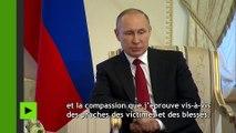 Vladimir Poutine s'exprime sur l'explosion qui frappé le métro de Saint-Pétersbourg