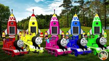 Shiva and Thomas the Train VS Subway Surfer Finger Family Song - Learn Colors--x0A0iHZoSM