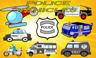 Police Vehicles for Kids - SWAT Police Patrol Van Car Modified Jeep Utility Emergency Guarded Vehicle