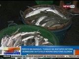 NTG: Presyo ng bangus, tumaas na matapos nitong bumagsak sa P2/kilo noong Bagyong Glenda