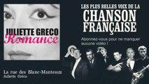 Juliette Gréco - La rue des Blanc-Manteaux