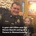 This little girl saw an officer eating alone [Mic Archives]