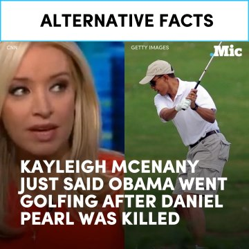 Kayleigh McEnany just said Obama went golfing after Daniel Pearl was killed