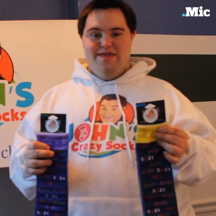 This man with Down syndrome is building a sock empire