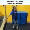 Paralyzed boy dances again