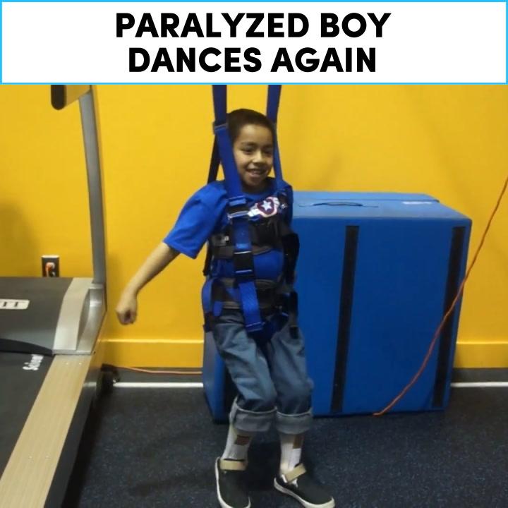 Paralyzed boy dances again  [Mic Archives]
