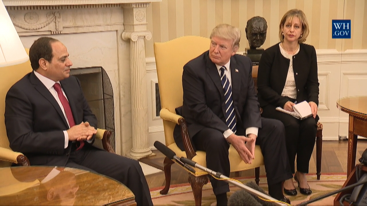 "President Trump Says The President of Egypt Is Doing ""A Fantastic Job"""