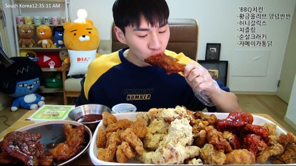 BANZZ▼ BBQ Chicken BEST 5 Mukbang Highlight!  (Eating Show/Mukbang) 밴쯔▼ BBQ치킨 BEST5 추천 먹방! 편집하이라이트