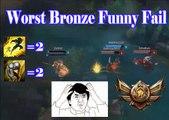Worst Bronze funny fail Ever | Funny jukes | Bronze Fail | league of legends | lol | epic fail