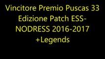 Vincitore Premio Puscas 33 Edizione Patch ESS-NODRESS 2016-2017+Legends