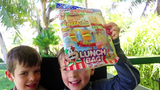 GUMMY FOOD VS REAL FOOD CHALLENGE Taste Test! Kid Fun GIANT Candy Review Blind Fold Challenge