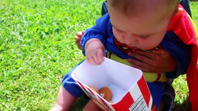 SUPERHEROES IRL Baby RESCUE PJ MASKS Boy Who CRIED WOLF In Real Life Superman Parody Baby Eli