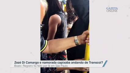 Zezé Di Camargo e Graciele Lacerda andando de Transcol: será