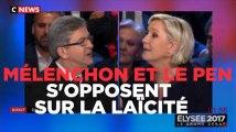 """Mélenchon à Le Pen : """"Fichez-nous la paix avec votre religion"""""""