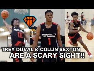 Trevon Duval & Collin Sexton In The SAME BACKCOURT?! | McDonald's All-American Practice Highlights