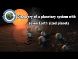Discovery of a planetary system with seven Earth-sized planets