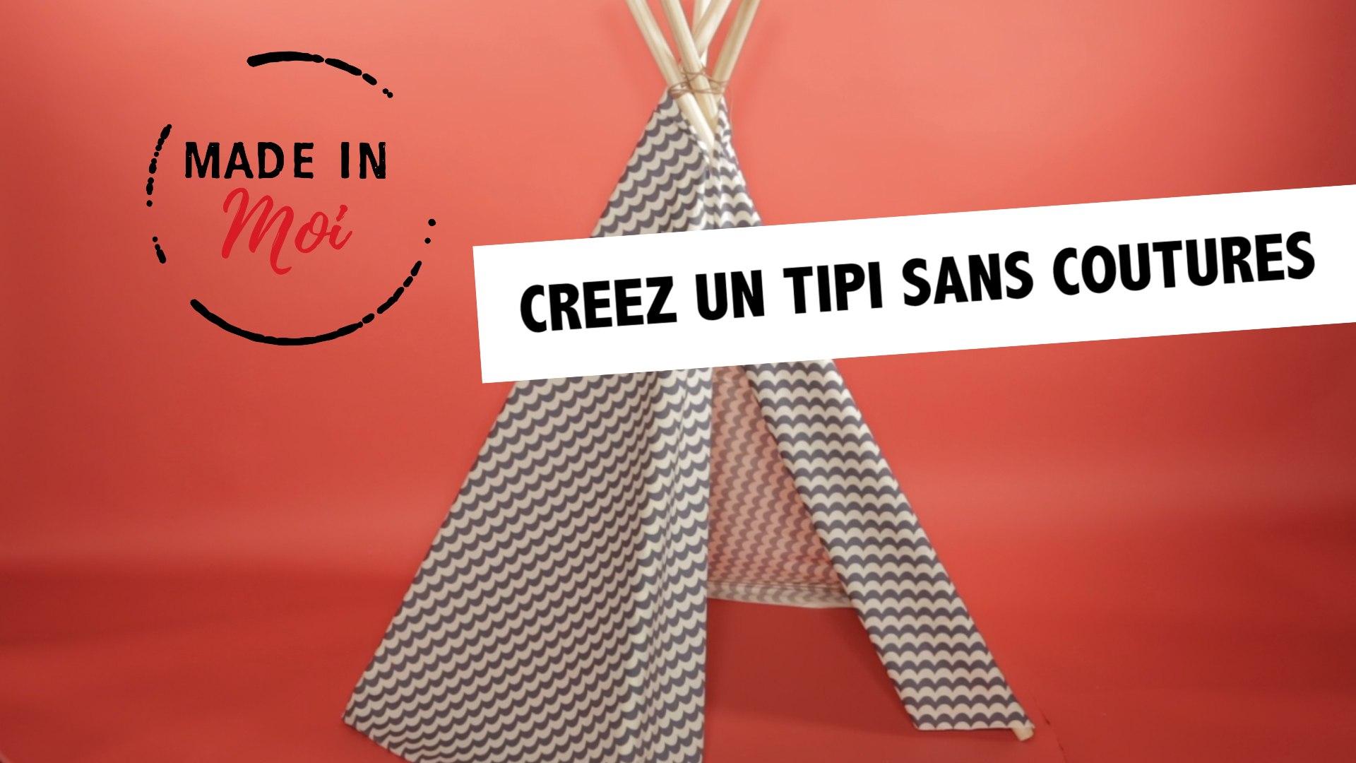 Tipi Pour Chat A Fabriquer made in moi : comment fabriquer un tipi sans coutures ?
