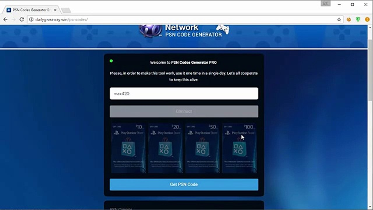 Free PSN Codes - Only Working PSN Code Generator - Free PSN Codes 2017