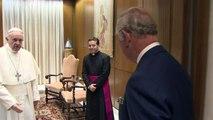 Prince Charles and Camilla meet Pope Francis