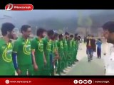 Local IoK Cricket team dons Pakistan Cricket Team Jersey's and sings Pakistan's National Anthem