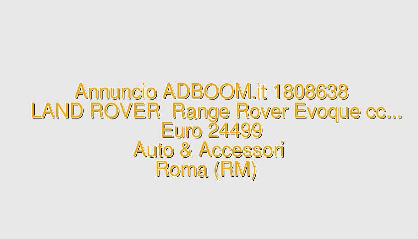 LAND ROVER  Range Rover Evoque cc…