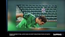 Roger Federer et Bill Gates réunis dans une pub délirante pour la bonne cause (Vidéo)