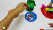 Crocodile Dentist Eating Play Doh Pizza Playdough For Kids - Eating No Talk