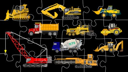 Construction Vehicles Jigsaw Puzzle - Trucks & Heavy Equipment - The Kids' Picture Show