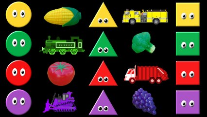 Colors Collection Volume 2 - Shapes, Colors, Vehicles, Fruit & Vegetables - The Kids' Picture Show