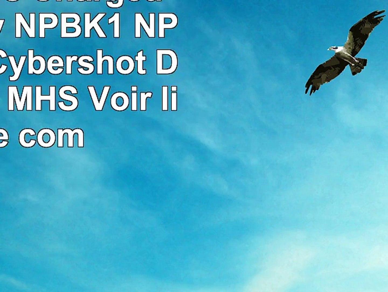 2x Batteries  Chargeur pour Sony NPBK1 NPBK1  Sony Cybershot DSCW DSCS MHS