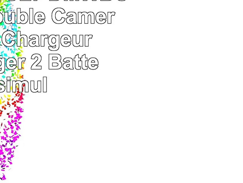 Invero DMWBCL7 DMWBCL7E LCD Double Caméra Batterie Chargeur peut charger 2 Batteries