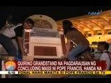 UB: Quirino Grandstand na pagdarausan ng concluding mass ni Pope Francis, handa na