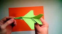 Origami F-16 Falcon Tutorial - Flying model  Paper Airplane