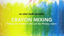How to mix crayons  - Beginner Tutorial - 3 color rainbow-akn