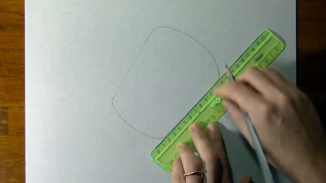 Drawing of a simple glass - How to draw 3D Art-1Us