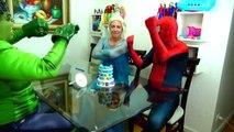 Spiderman Cooking Big Mac with Frozen Elsa & Hulk - Fun Superheroes Movie In Real Life-XYBwSaQ