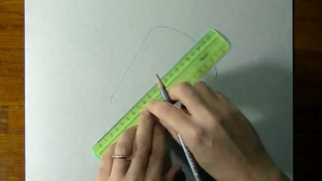 Drawing of a simple glass - How to draw 3D Art-1U