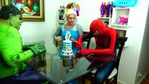 Spiderman Cooking Big Mac with Frozen Elsa & Hulk - Fun Superheroes Movie In Real Life-XYBwSaQ51