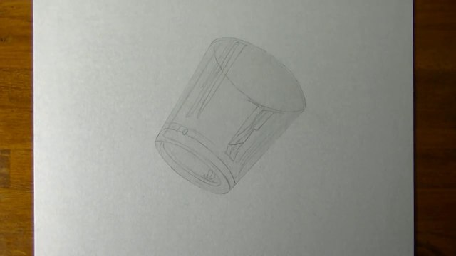 Drawing of a simple glass - How to draw 3D Art-1UsUC8bDv